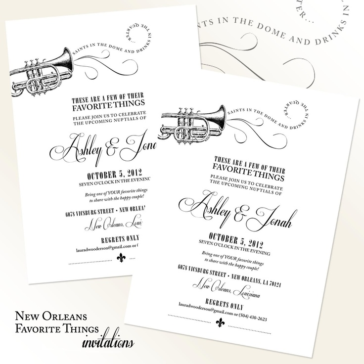 34 best New Orleans theme party images on Pinterest Invitations - invitation non formal