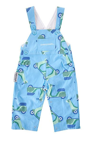 "Bright, funky and supremely practical blue and green scooters overalls!  These amazing overalls are unique and exclusive to Overcrawls - perfect little garment for messy little boys and girls!  Wear them over ""normal"" clothing and let them go... parties, the park, kinder or childcare, an afternoon at grandmas or digging in the garden - once they've had enough of exploring simply remove them and their outfit is intact and CLEAN! #littlebooteekau #overcrawls #cleankids #winterwarmer…"