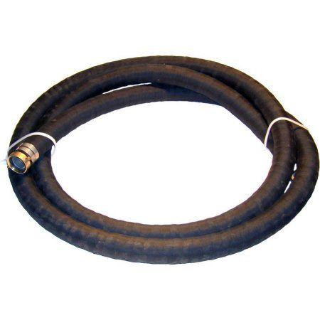 JGB Enterprises Eagle Epdm/SBR Black Suction Hose Assembly, 3 inch Male x Female Water Shanks , 100 PSI Maximum Pressure