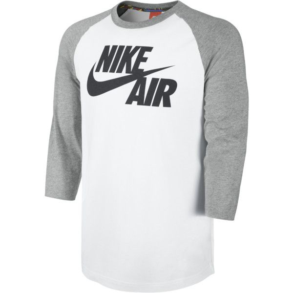 Nike Basketball 3/4-Sleeve Raglan Men's Shirt (111.860 COP) ❤ liked on Polyvore featuring mens, men's clothing, men's shirts and men's casual shirts
