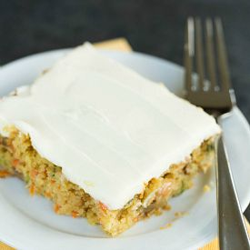 Carrot-Zucchini Bars with Cream Cheese Icing via @browneyedbaker
