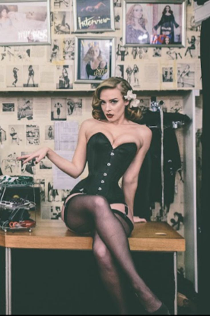 "Sam Elson by Ever Photography in What Katie Did's London Boutique. Sam wears the signature Laurie Corset. Available in sizes 18""-34"""