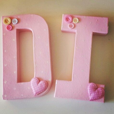Handpainted letters for girls room