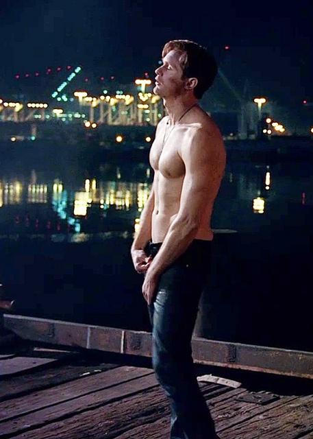 Eric Northman - True Blood season 5 - zipin' those pants up.... #yum