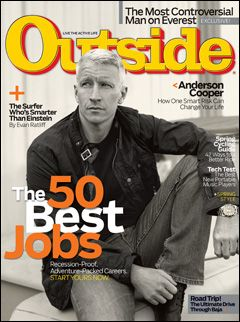 Outside Magazine, May 2008, featuring journalist Anderson Cooper