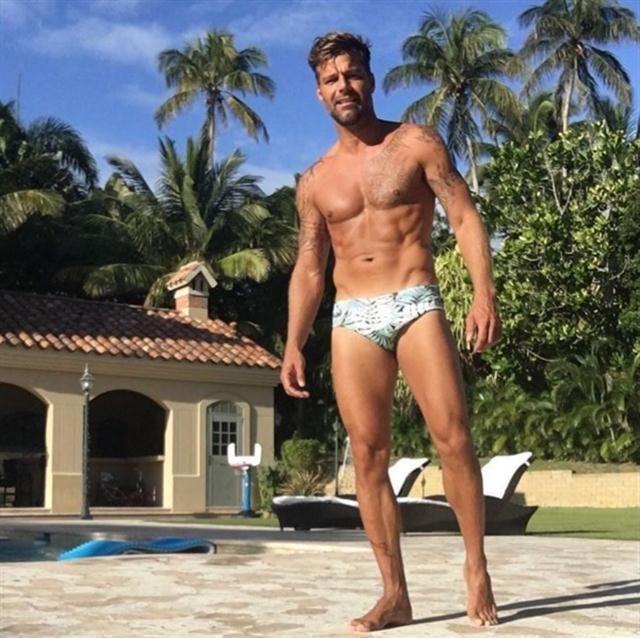 Las fotos de Ricky Martin que hacen explotar las redes sociales - 09.01.2016 - LA NACION