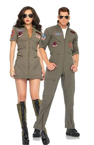 Top Gun Couples Costumes now at Teezercostumes.com