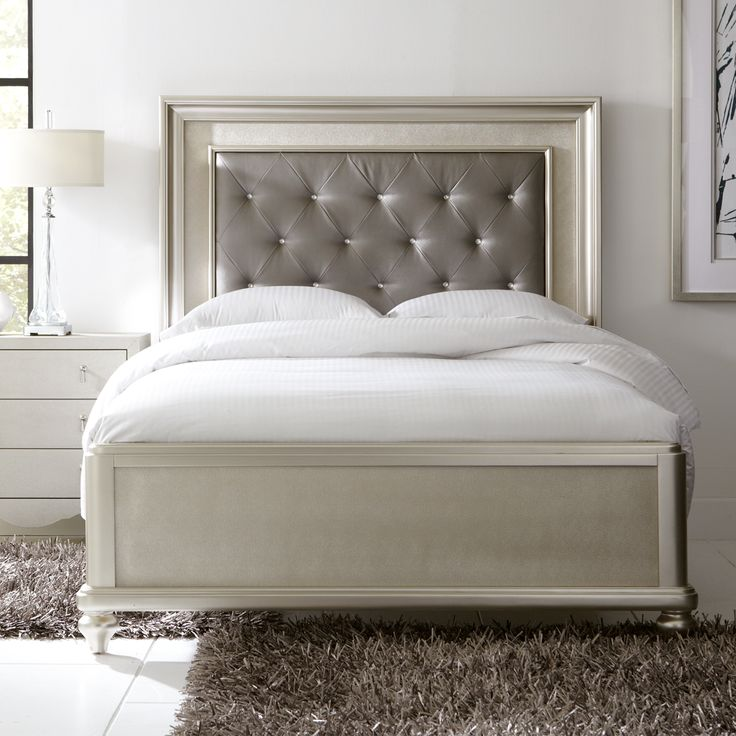 Bed With Headboard, Bedroom Furniture, 2015 CORT Signature Collection