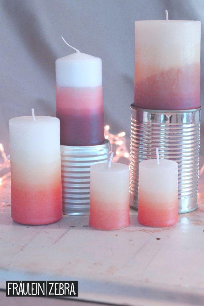[11. Dezember] Kerzen im Ombre-Look