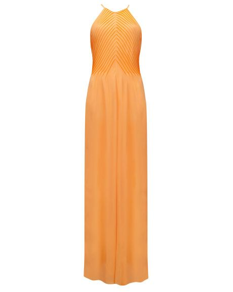 Pin tuck maxi dress - Tangerine | Dresses | Ted Baker UK