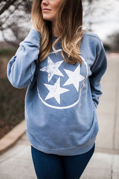 TriStar Comfort Colors Sweatshirt Blue Jean
