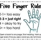 """I will be teaching my firsties the Five Finger Rule for picking """"just right"""" books this year and wanted to share the poster I created for it. ..."""