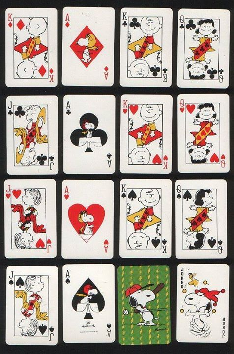 #peanuts playing cards #snoopy #illustration