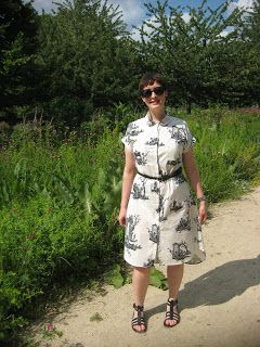 #Deer&Doe Melilot shirt lengthened into a dress #sewing #dressmaking #sewtogetherforsummer