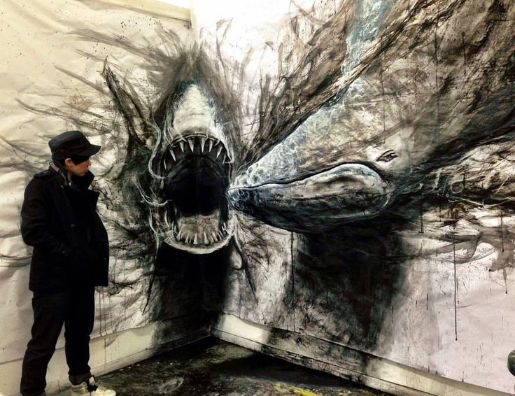 Fiona Tang's Fierce Animal Murals Seem Ready to Burst from the Wall