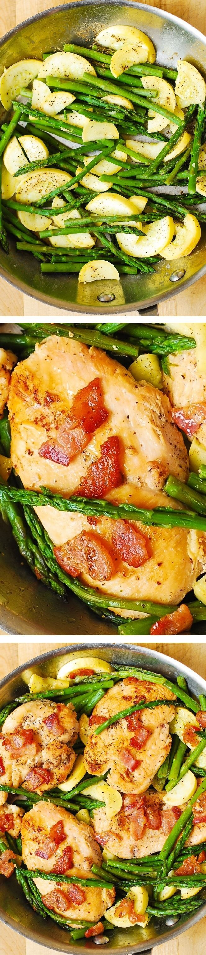 Chicken, Asparagus, And Bacon Skillet