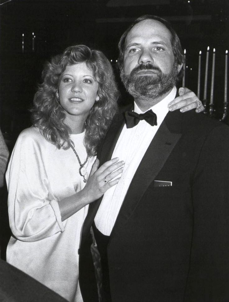 "Brian De Palma & Nancy Allen in 1981. The couple who were dating during the filming of ""Carrie"" later married and made three films together. Blowout, Dressed to Kill and the original 1976 cult classic ""Carrie""."