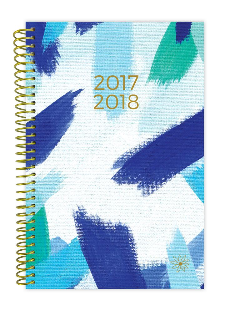 2017-18 Daily Planner, Blue Strokes PRE-ORDER || shades of blue watercolor strokes pattern academic planner for the 2017-18 school year!