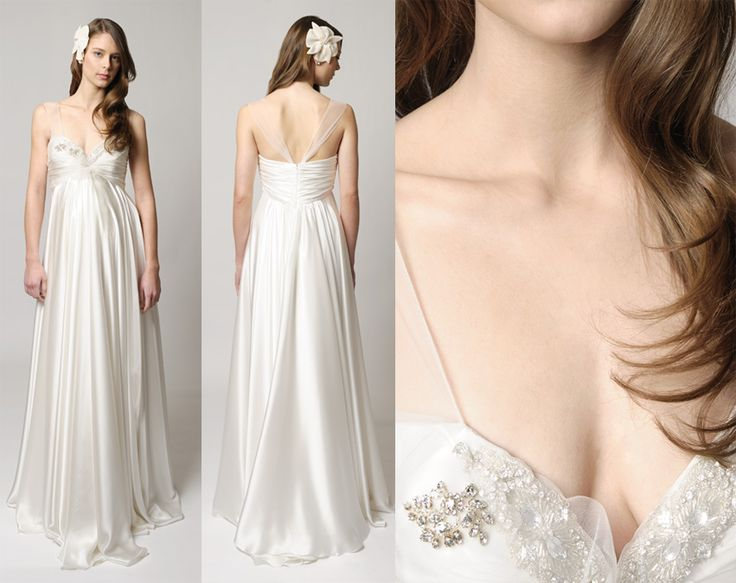 Mejores 8 imágenes de Vestidos para novias embarazadas en Pinterest ...