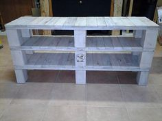 DIY Pallet Media Console Table and TV Stand | 99 Pallets