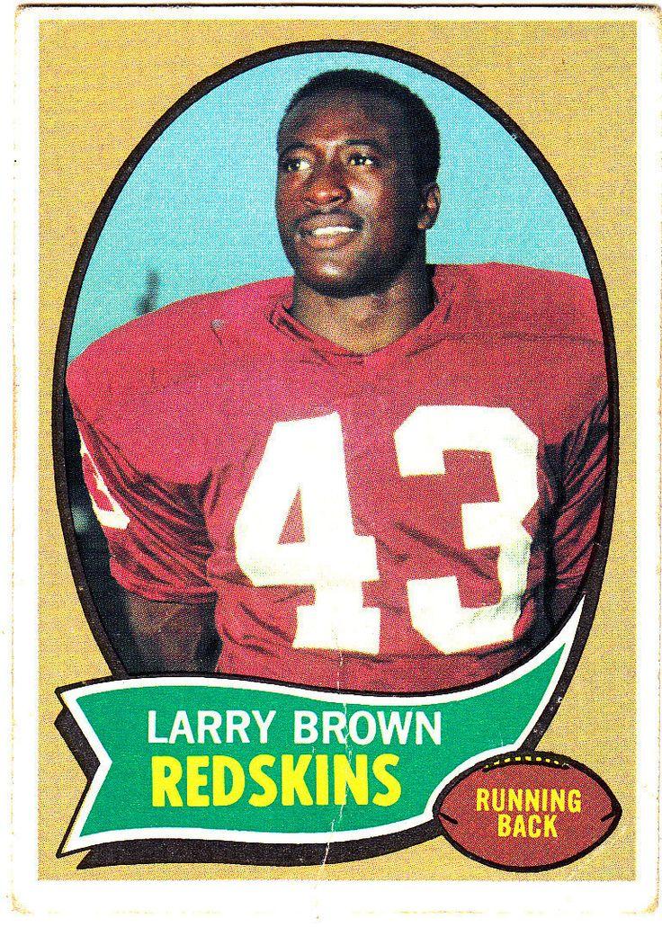 1970 Topps Football Set Larry Brown Washington Redskins Rookie