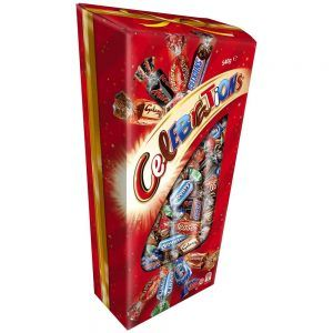 An outer of 6 Celebrations 540g gift boxes.