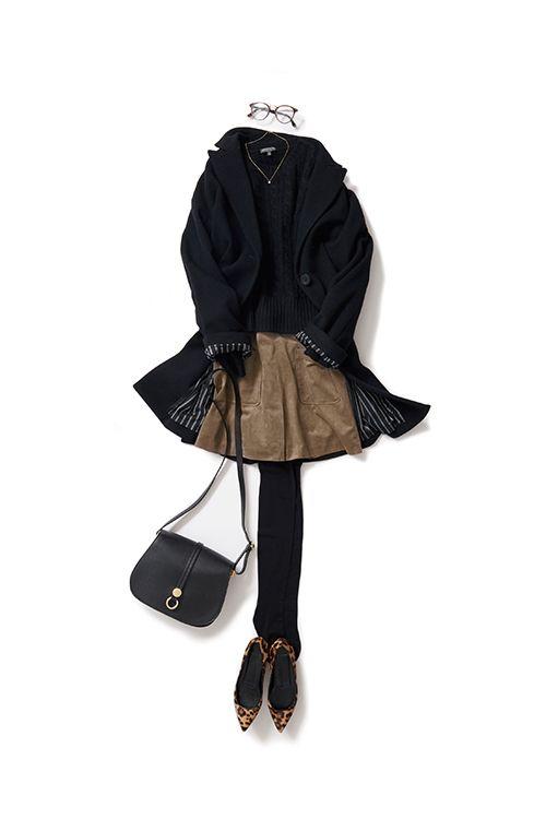 Kyoko Kikuchi's Closet #kk-closet モカ色を黒で引き立てる