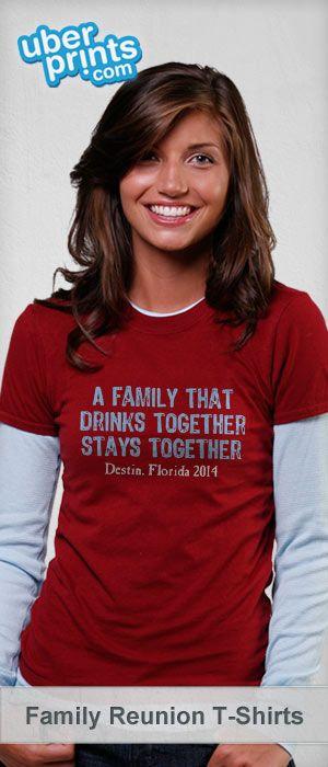Create custom family reunion shirts online at UberPrints.com. Design them yourself or get started from our family reunion templates. #familyreunion #uberprints