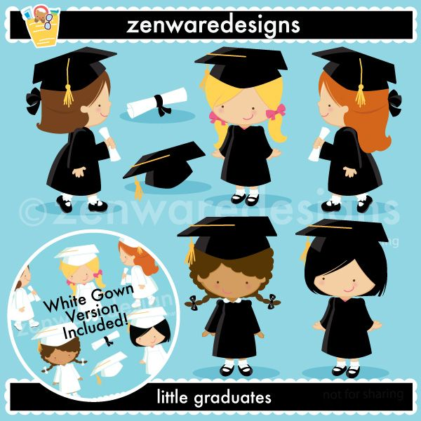 Description: Graduation icons for the little graduate girl! This set is perfect for graduation and party invitations, gift bags and more! The simple lines are great for embroidery as well! Set also includes white cap & gown version! YAY!