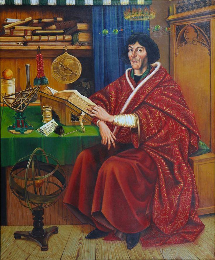 Nicolás Copérnico (1473-1543). Fue un astrónomo polaco, conocido por formular la teoría Heliocéntrica de una forma coherente. Considerado como el iniciador de la  revolución científica del Renacimiento.