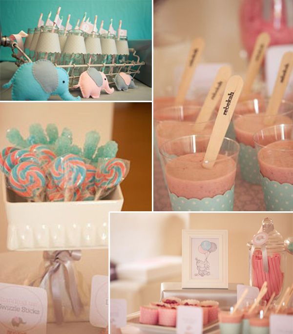 309 best baby shower ideas images on pinterest events for Baby shower decoration ideas cheap