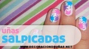 Diseño de uñas salpicadas