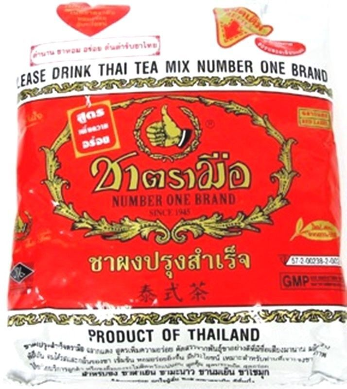 Chatramue Mix Brand Hand Number One Red Label Original Hot Thai Ice Tea 400g  #NumberOneBrandHand