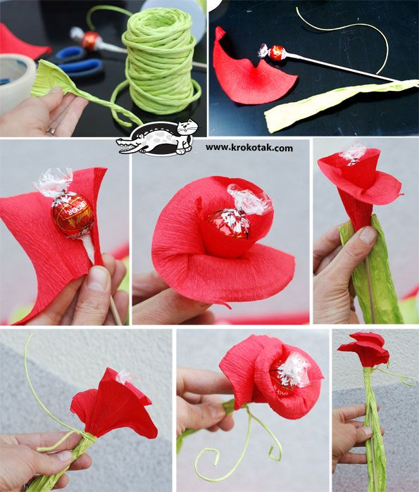 Flowers-candies - how to make ones