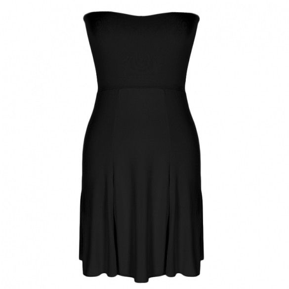 Stylish Lady Sexy Womens Fashion Strapless Off-shoulder High Waist Mini Beach A-line Dress Calf Length Skirt