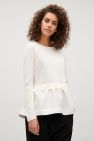 COS Knitted top with woven skirt in White