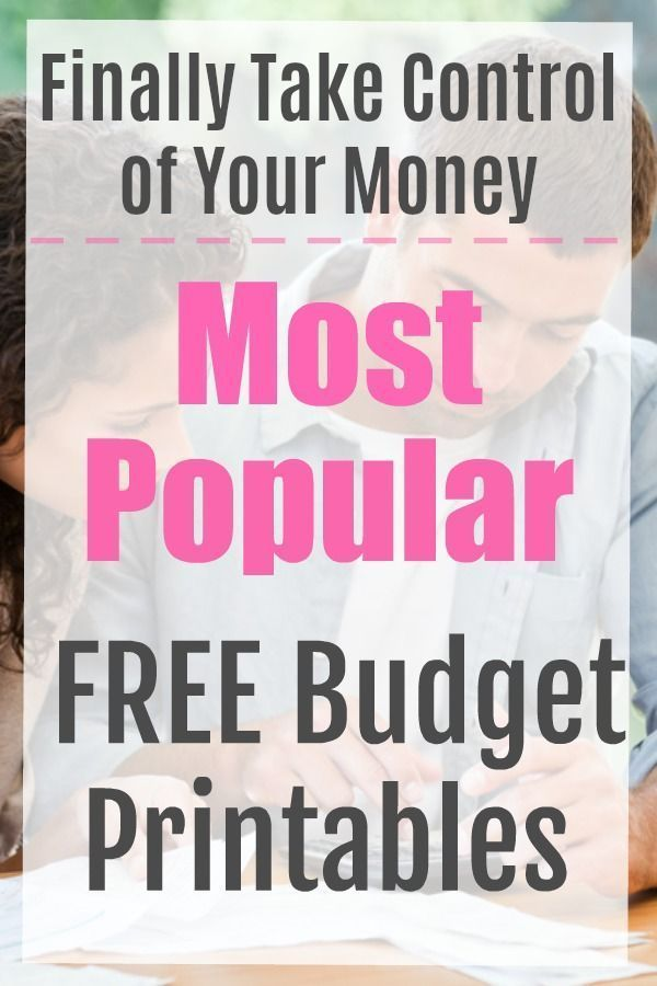 The 6 Most Popular FREE Budget Printables 4 Finances Pinterest