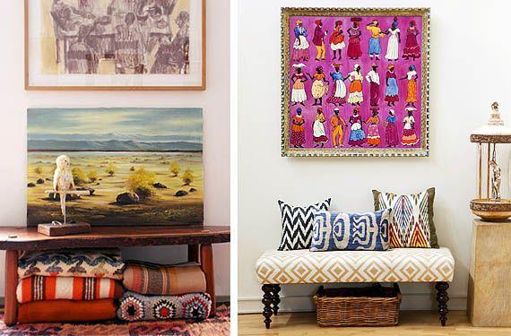 Recibidores con aires bohemios estilo y color colores - Recibidores con estilo ...