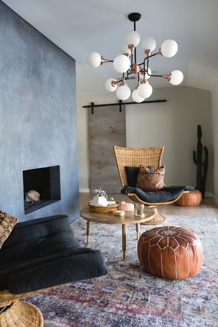 The Most Stylish Budget Furniture For Your First Apartment Modern Bohemian Living Room Living Room Interior Apartment Living Room