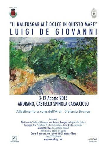 Personale di Luigi De Giovanni a Andrano - De Giovanni Luigi pittore contemporaneo - Creazioni d'arte - Cagliari