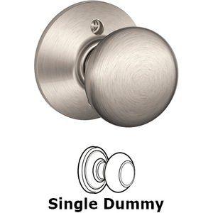 Schlage Door Hardware - Plymouth Door Knobs - F170 Series - Single Dummy Plymouth Door Knob in Satin Nickel
