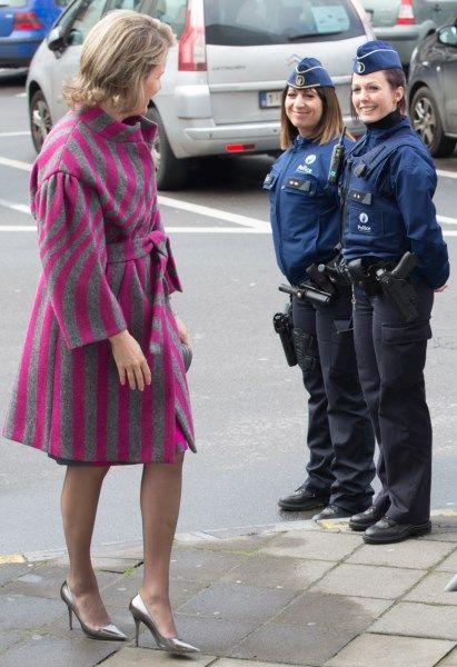La Reine Mathilde était à Mons ce mardi matin