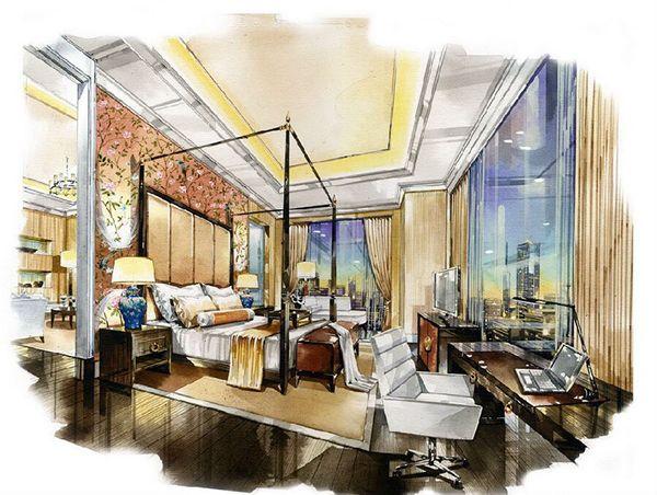 les 2825 meilleures images du tableau sketch interior sur pinterest perspective esquisse et. Black Bedroom Furniture Sets. Home Design Ideas