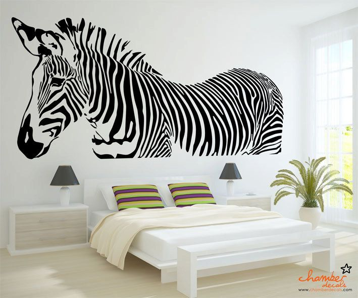Charmant Zebra Wall Decal By Chamber Decals Eclectic Decals