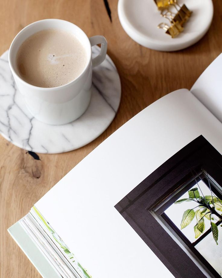 Sunday morning coffee while browsing the new 'Green Interior book' by @coffee_klatch