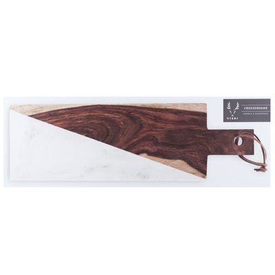 Viski Admiral™ Marble and Indian Rosewood Cheese Board