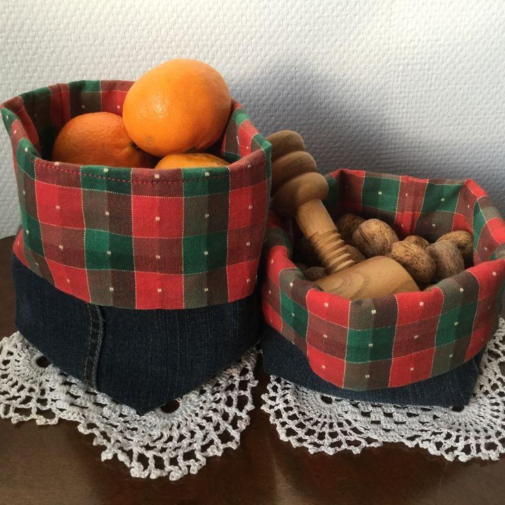Pose til nøgler, nødder, kager. Recycling 1 eller 2 stk., hvis man skiller dem ad.