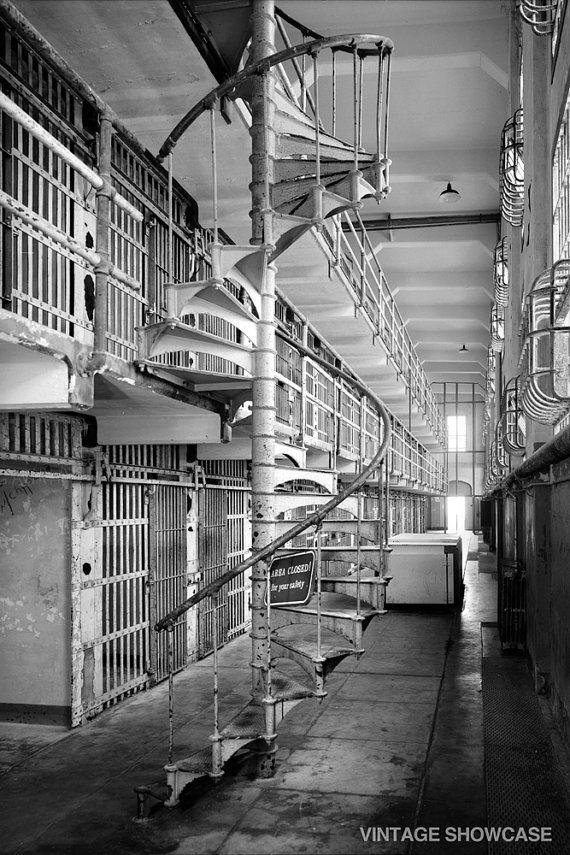 Inside Alcatraz Prison  San Francisco Photo by VintageShowcase