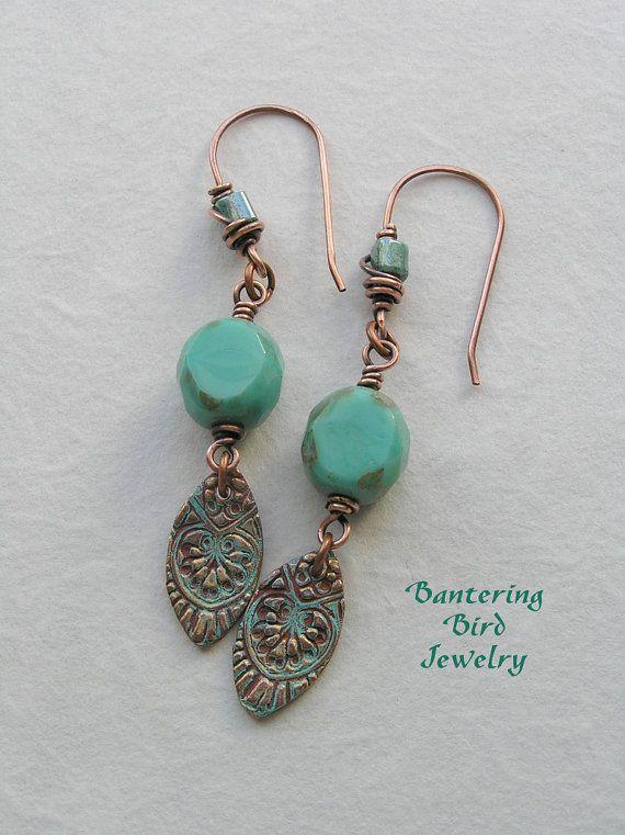 "love Kristi Bowman's copper charms ""colorized"" Bantering Bird Jewelry @Kristi Bowman-Gruel"