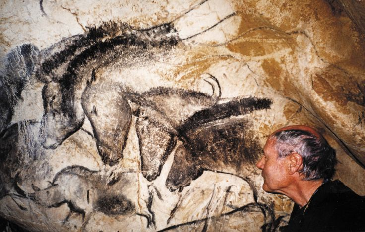 Panel of horses in the Chauvet Cave, France. One theory is that this depicts the same horse, but at different ages - as a foal in the lower right, then a young horse, then a mature horse, then an older horse. In other words, the drawing shows a horse moving through time, not space. It could also depict a herd of horses or a family. Extraordinary, and as fresh today as it was 32,000 years ago.